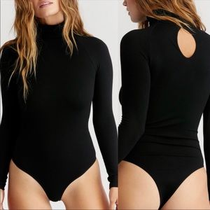 BNWOT Free People Seamless Turtleneck Bodysuit XS